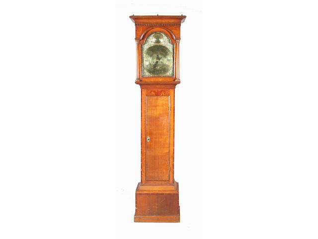 A George III oak and fruitwood crossbanded longcase clock