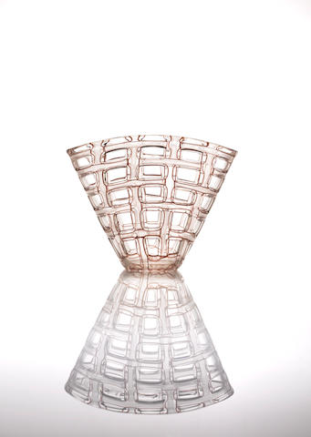 Barovier and Toso 'Argo' a series glass vase created by Ercole Barovier, circa 1960
