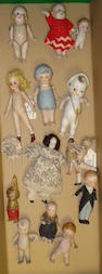Collection of all-bisque dolls lot