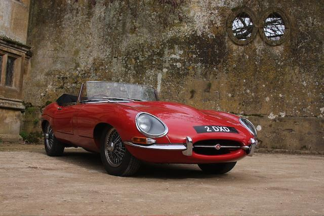 1962 Jaguar E-Type Series I 3.8-Litre Roadster  Chassis no. 878663 Engine no. R9016-9