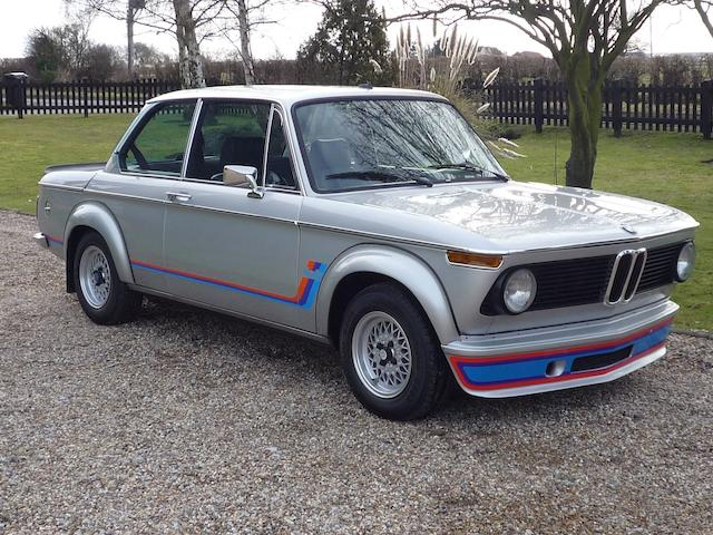 1974 BMW 2002 Turbo Saloon  Chassis no. 4290203 Engine no. 4290703