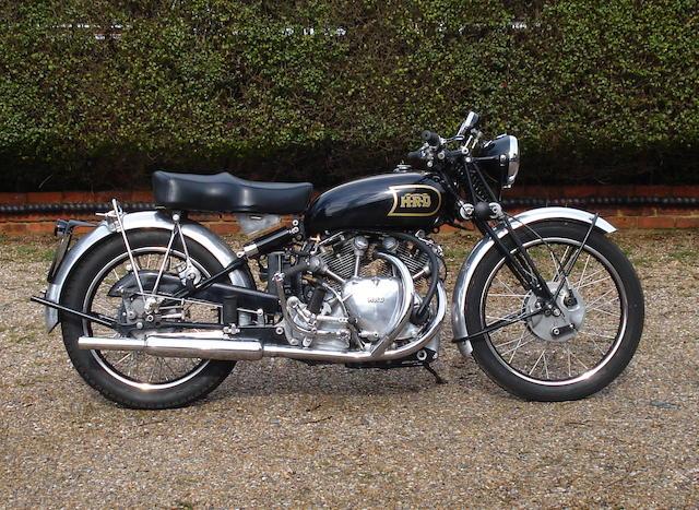 c.1949/51 Vincent-HRD 998cc Rapide Frame no. RC/1/9743/C Engine no. F10AB/1/2422