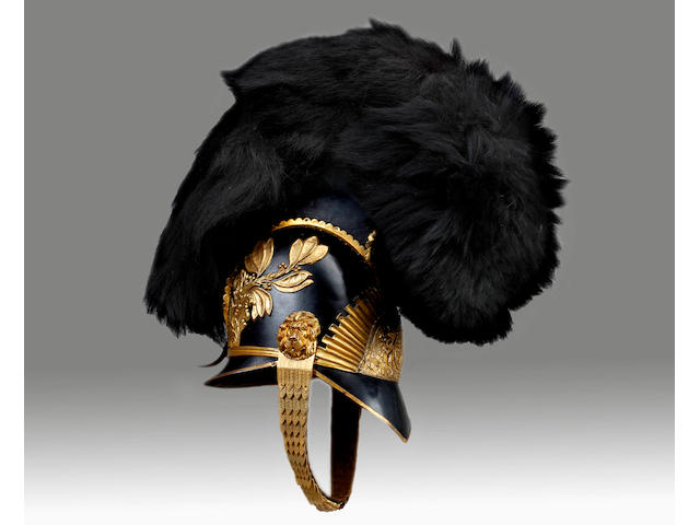 2nd Or The Queen's Dragoon Guards Officer's Helmet C.1819 Pattern