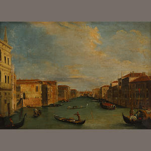 Continental school, late 19th Century Grand Canal at the Palazzo Balbi