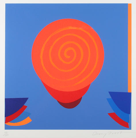 """Terry Frost (British, 1915-2003) """"Orange and Blue Space"""","""