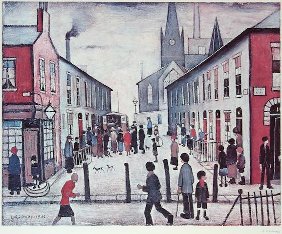 "Laurence Stephen Lowry, R.A. (British, 1887-1976) ""Fever Van"","