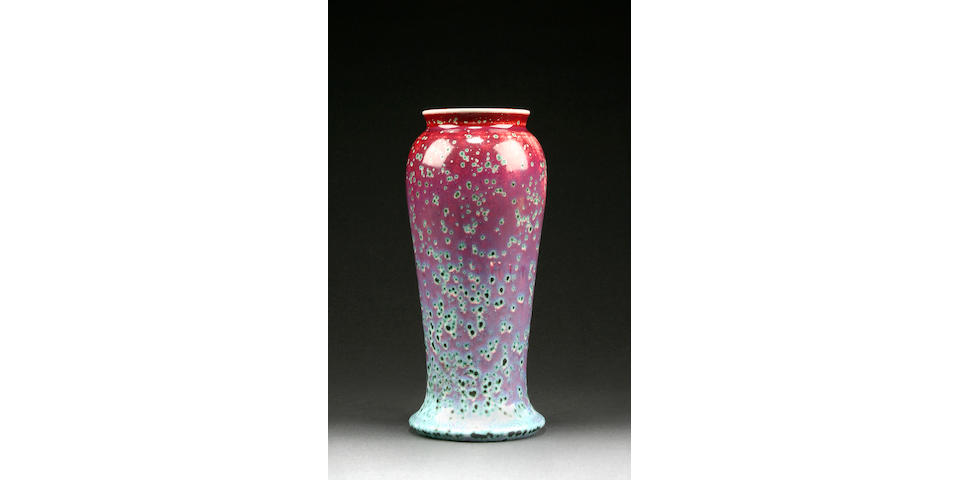 A Ruskin high fired vase dated 1933, dated 1933,