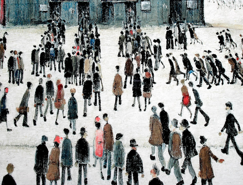 """Laurence Stephen Lowry, R.A. (British, 1887-1976) """"Going to the Match"""","""