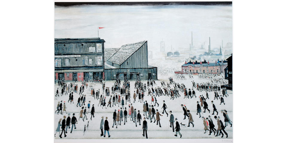 "Laurence Stephen Lowry, R.A. (British, 1887-1976) ""Going to the Match"","