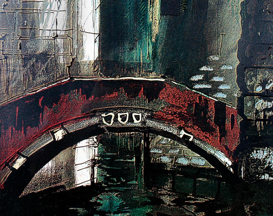 John Piper (British, 1903-1992) Stage design for Death in Venice,