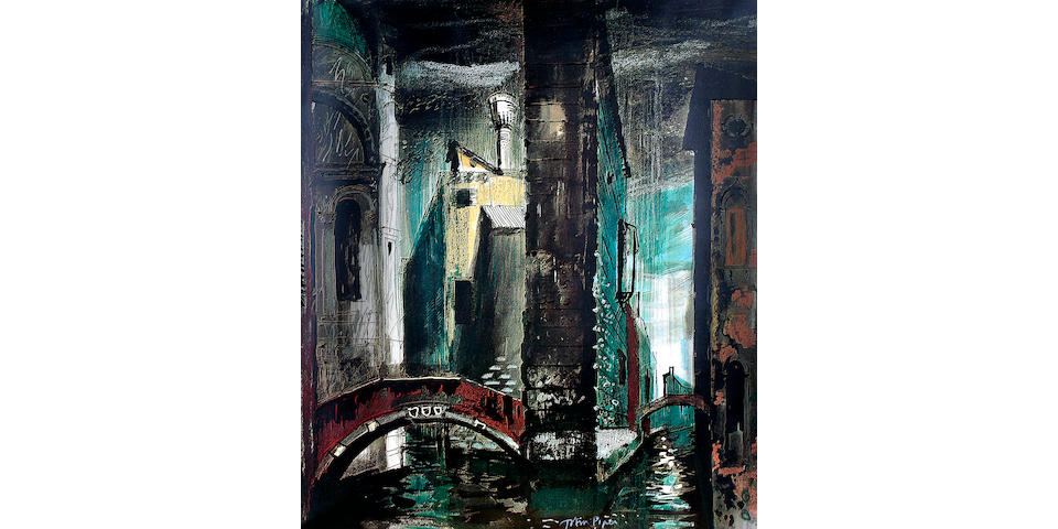 John Piper (British, 1903-1992) Stage design for Death in Venice,