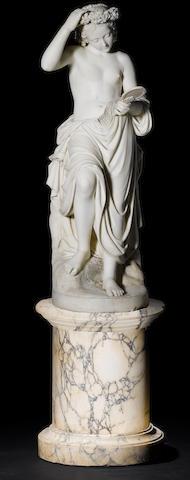 "Professor Giuseppe Lazzerini, Italian (1831-1895) A white marble figure of ""Vanity"""