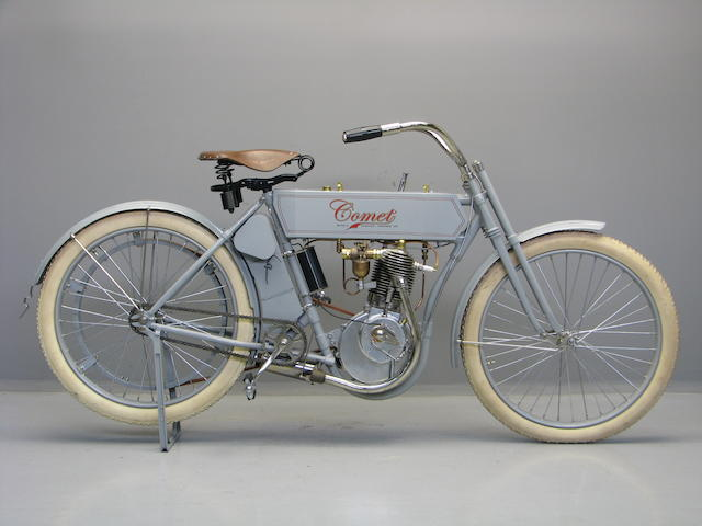 1910 Comet Motorcycle Re-creation Frame no. 6 1008