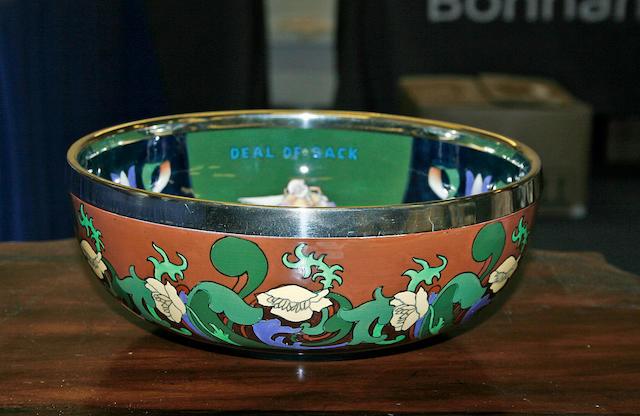A Foley Intarsio bowl circa 1930,