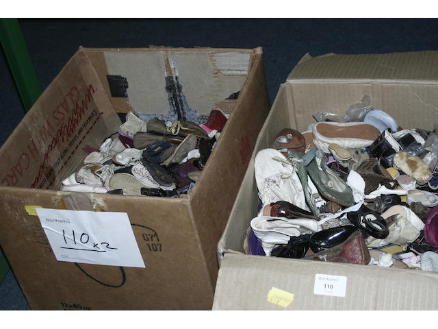 A large quantity of 20th century and earlier dolls shoes