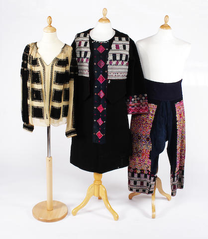 A group of South East Asian dress items
