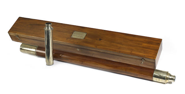 A fine presentation Dollond 2-inch refracting telescope in case,  English,  early 19th century,