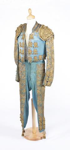 A blue Matador outfit