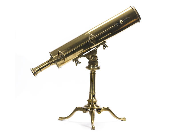 A George Adams 2 1/2 inch Gregorian reflecting telescope on stand,  English,  late 18th century,