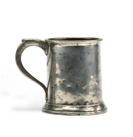 Homer 299 A Pre-Imperial pint mug, circa 1780