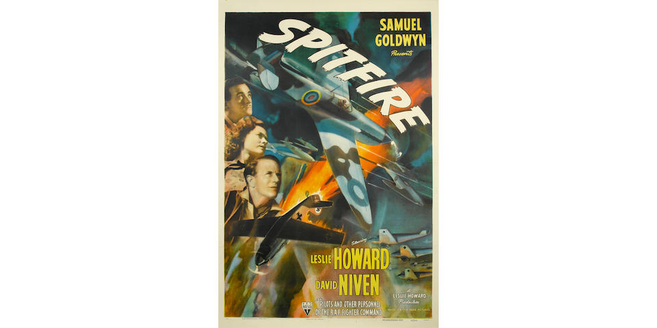 Spitfire, US one sheet movie poster, 1943,