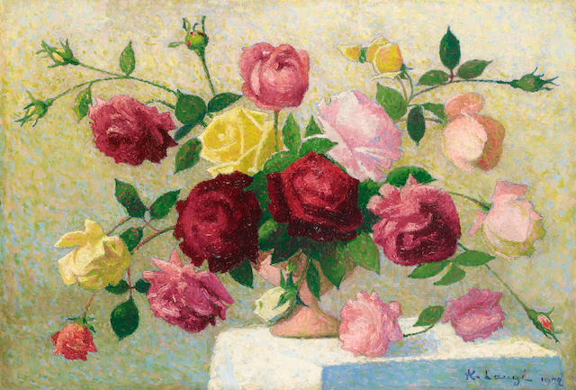 Achille Laugé  (French, 1861-1944) Bouquet de Roses