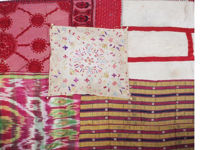 An ikat silk shawl