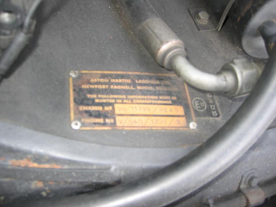 1978 Aston Martin V8 Saloon  Chassis no. V8/11799/RCAS Engine no. V/540/1799/S