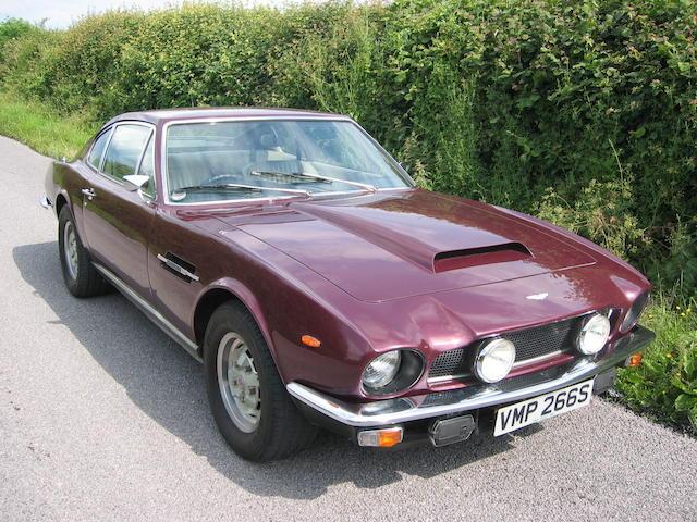 1978  Aston Martin  V8 Mk3 2 2 Coupe  Chassis no. V8/11799/RCAS Engine no. V/540/1799/S