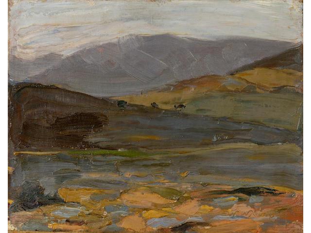 Nikolaos Lytras (Greek, 1883-1927) From Galatsi 41.5 x 52 cm