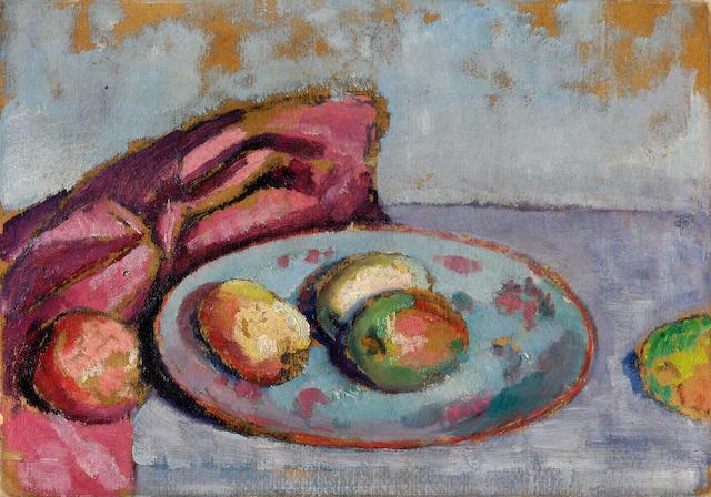 Theofrastos Triantafyllidis (Greek, 1881-1955) Still life 26 x 35.5 cm