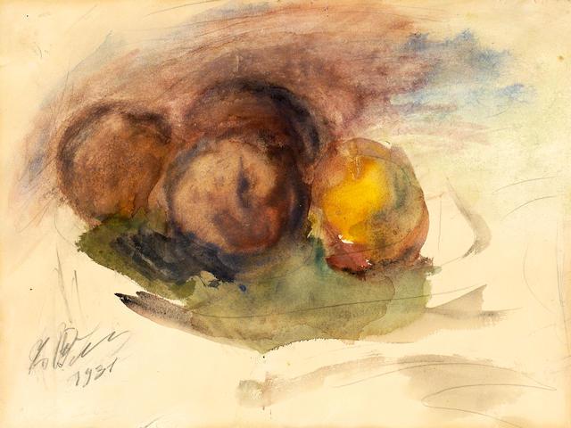 Georgios Bouzianis (Greek, 1885-1959) Still life / Stilleben  31.5 x 42.5 cm