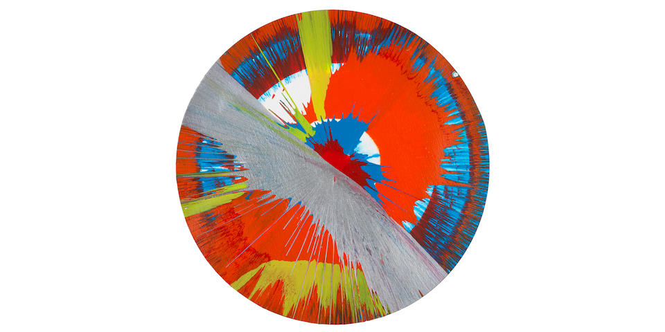 Damien Hirst (British, born 1965) Spin picture, 2005 43cm.  (16 ¾ in.) (diameter)