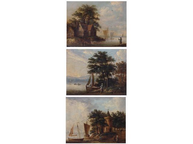 Follower of John Berney Ladbrooke (British, 1803-1879) 14 x 17.5cm. (3)