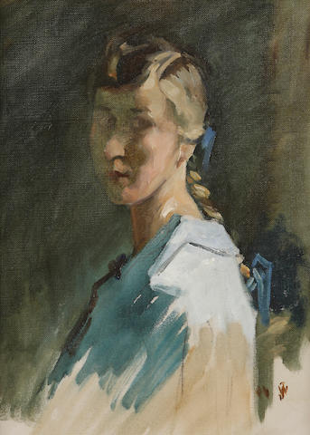William Johnstone, OBE (British, 1897-1981) Miss Janet Walker of Selkirk