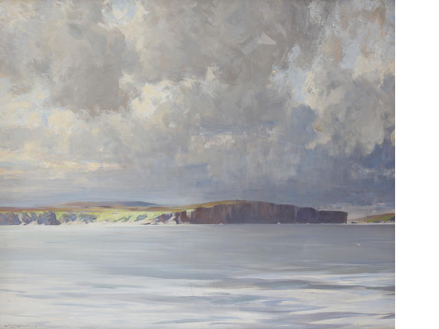 "Sir Stanley Cursiter, CBE RSA RSW (British, 1887-1976) ""Morning off the West Coast"""