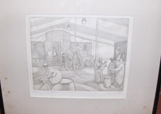 Clifford Cyril Webb (British, 1895-1972) The Interval, signed in pencil and numbered 51/55, etching,