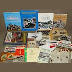 Motorcycling books and ephemera,