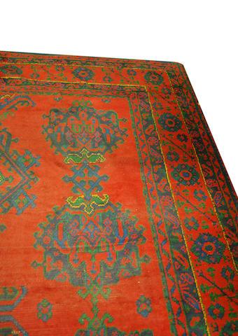 A large Ushak carpet 500cm x 340cm