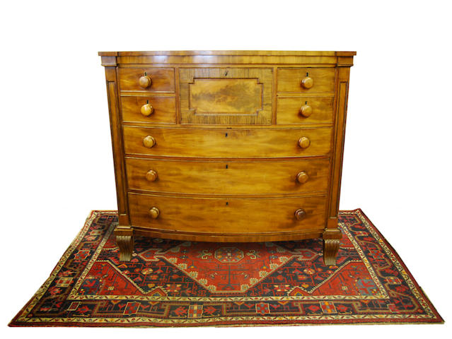 A William IV mahogany bowfront chest of drawers