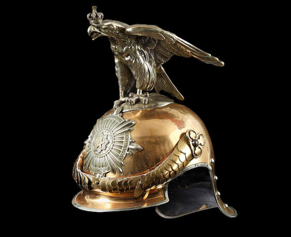A Scarce Imperial German Guarde Du Corps Trooper's Parade Helmet