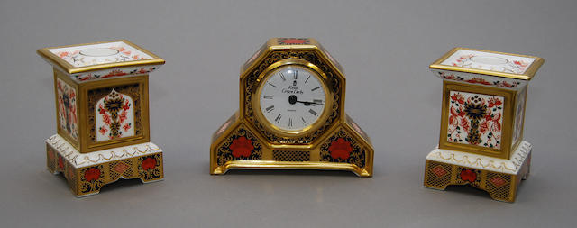 A Royal Crown Derby mantel clock