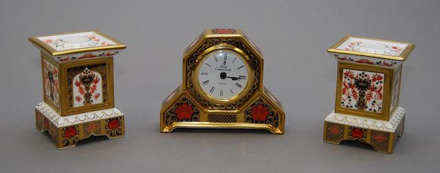 A Royal Crown Derby mantel clock