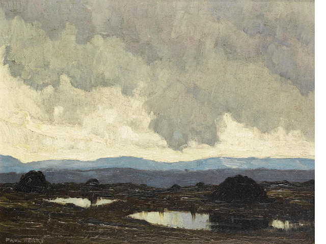 Paul Henry R.H.A. (Irish, 1876-1958) Connemara mountains 21.5 x 26.5 cm. (8 1/2 x 10 1/2 in.)