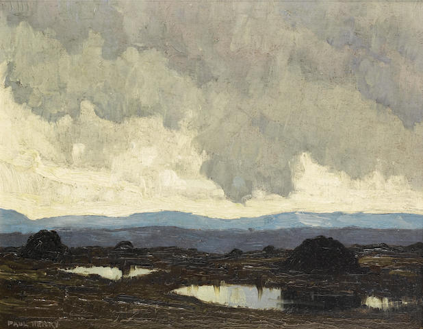 Paul Henry R.H.A. (Irish, 1876-1958) Connemara mountains 21.5 x 26.5 cm. (8 1/2 x 10 1/2 in.)