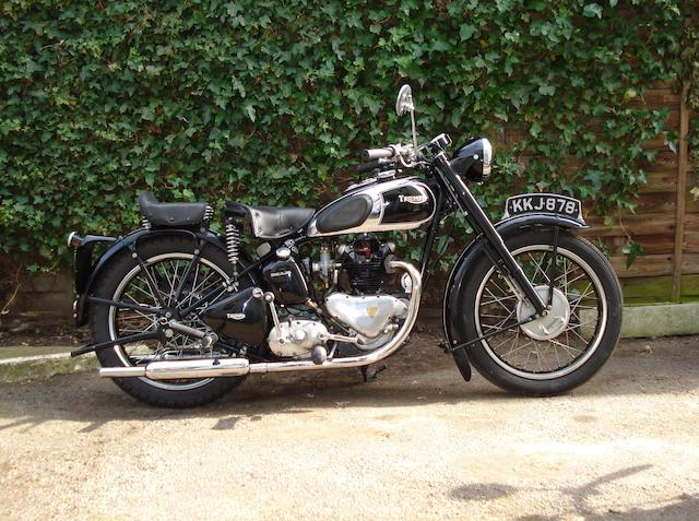 1947 Triumph 349cc 3T Frame no. TC 7680 Engine no. 3T 91303