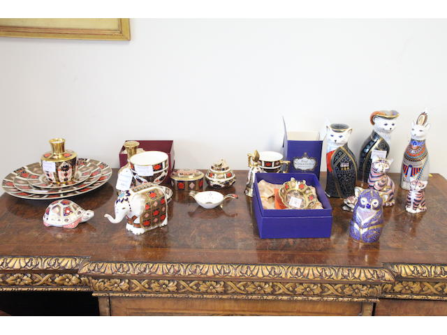 A collection of Royal Crown Derby Japan pattern and other wares,