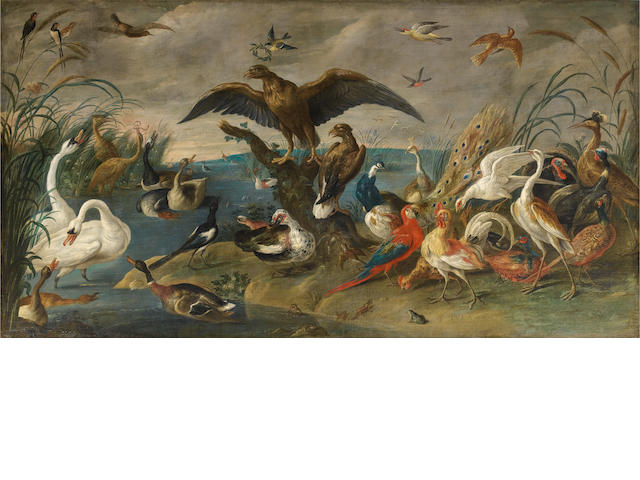 Jan van Kessel (Antwerp 1597-1667) A concert of birds