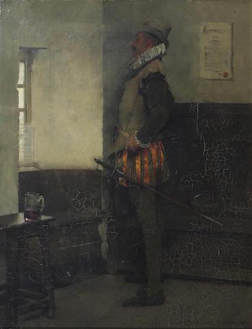 Albert Chevallier Tayler, RBC (British, 1862-1925) 46 x 37cm.