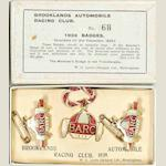 A set of BARC Brooklands member's and guests' lapel badges, 1939,